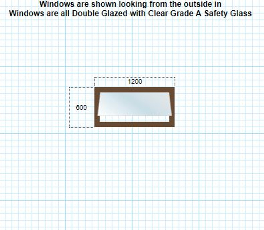 Double-glazed awning window 600mm x 1200mm + lock/keys + reveal + colour/flyscreen/frosting options