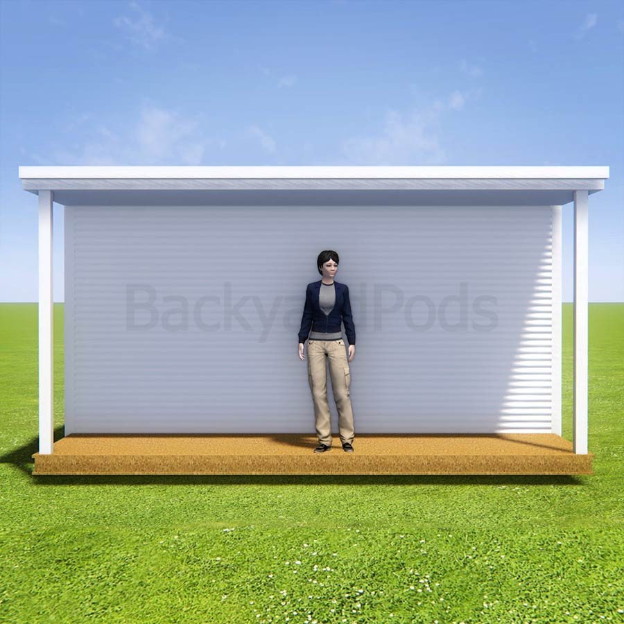 Basic deck/veranda kit 1.5m x 5m flat-pack