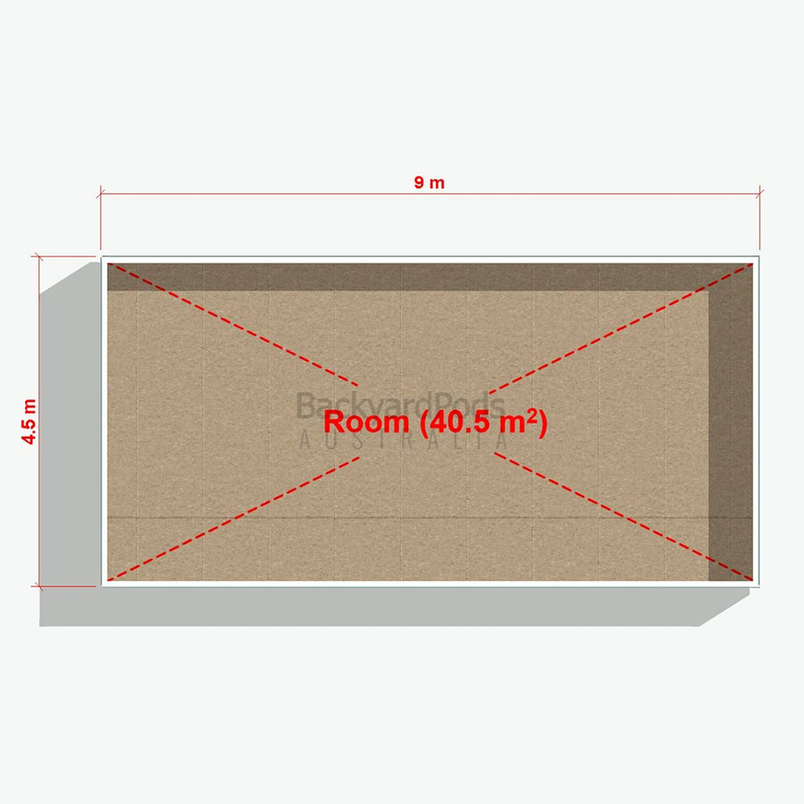 Basic backyard pod kit 4.5m x 9m flat-pack