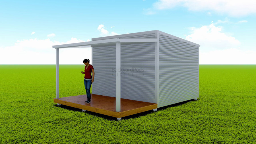 Basic deck/veranda kit 2m x 4m flat-pack