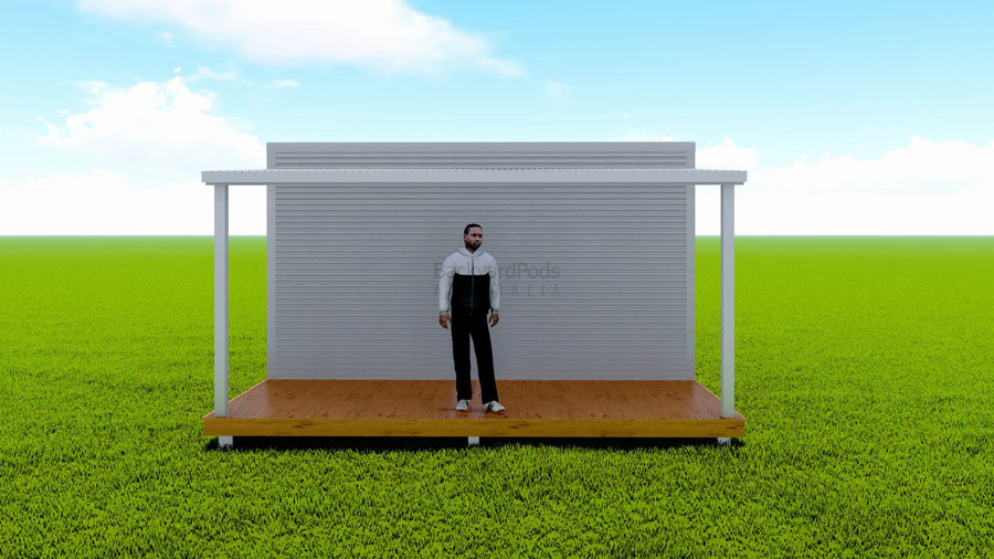 Basic deck/veranda kit 2m x 5m flat-pack