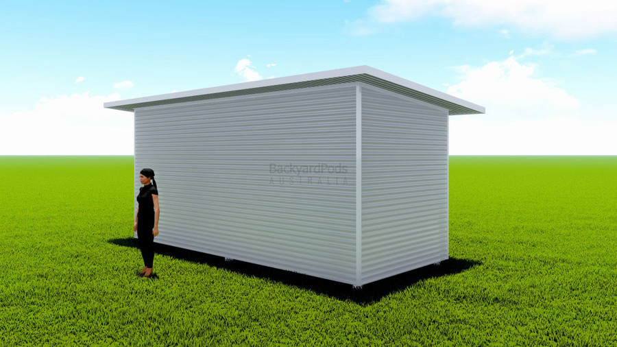 Basic backyard pod kit 2.5m x 6m flat-pack with eaves