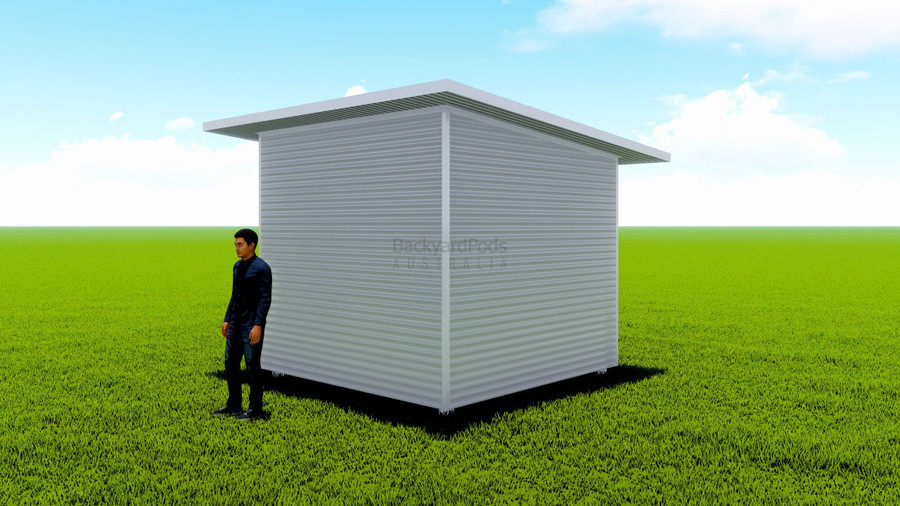 Basic backyard pod kit 3m x 3m flat-pack with eaves