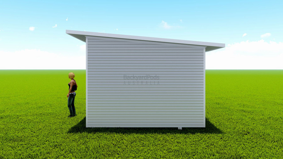 Basic backyard pod kit 3.6m x 4m flat-pack with eaves