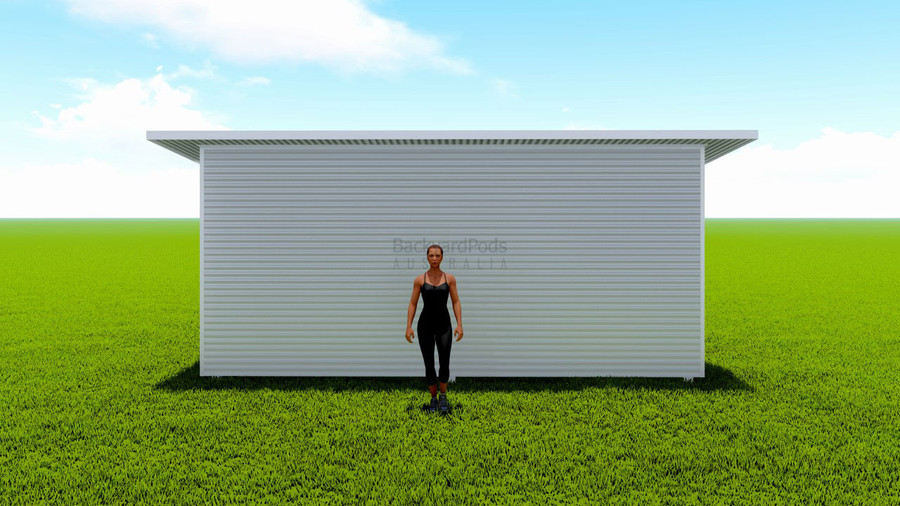 Basic backyard pod kit 3.6m x 6m flat-pack with eaves