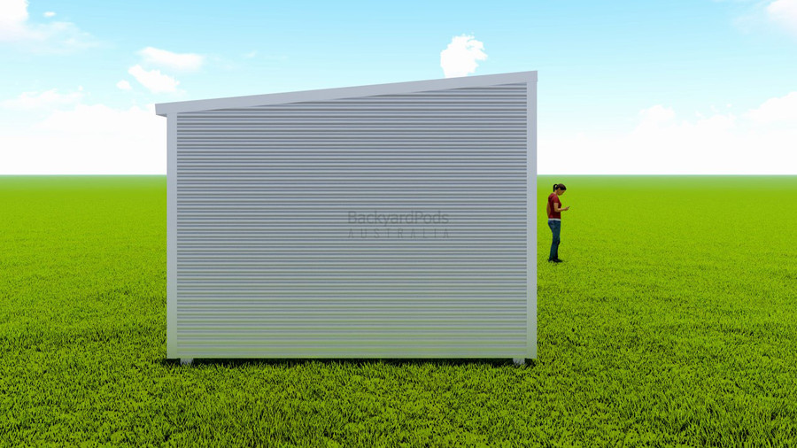 Basic backyard pod kit 3.6m x 15m flat-pack