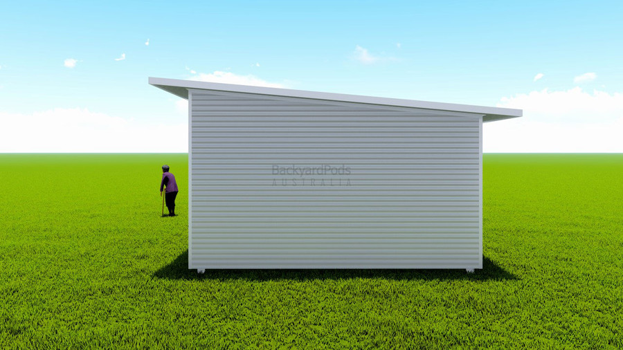 Basic backyard pod kit 4.5m x 14m flat-pack with eaves