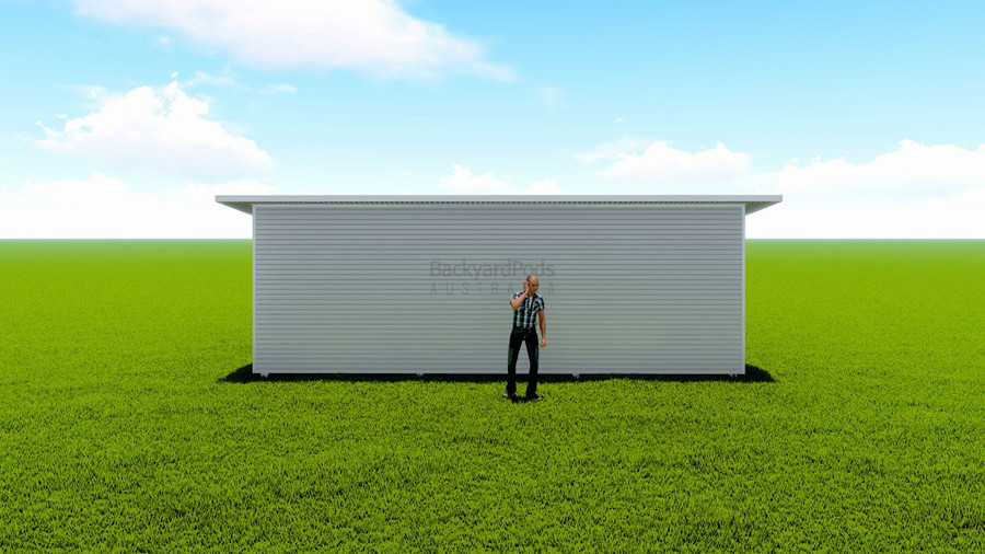 Basic backyard pod kit 4m x 8m flat-pack with eaves