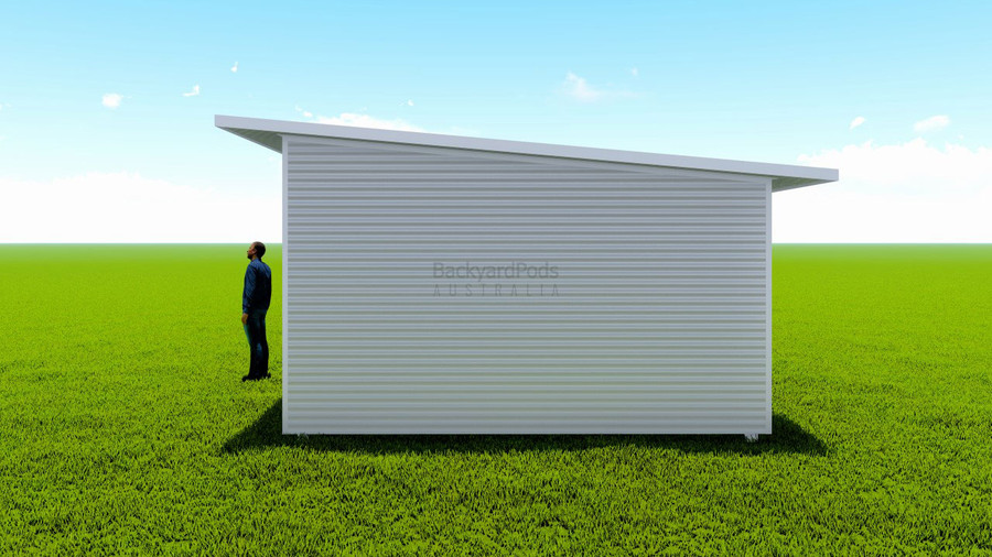 Basic backyard pod kit 4.5m x 7m flat-pack with eaves