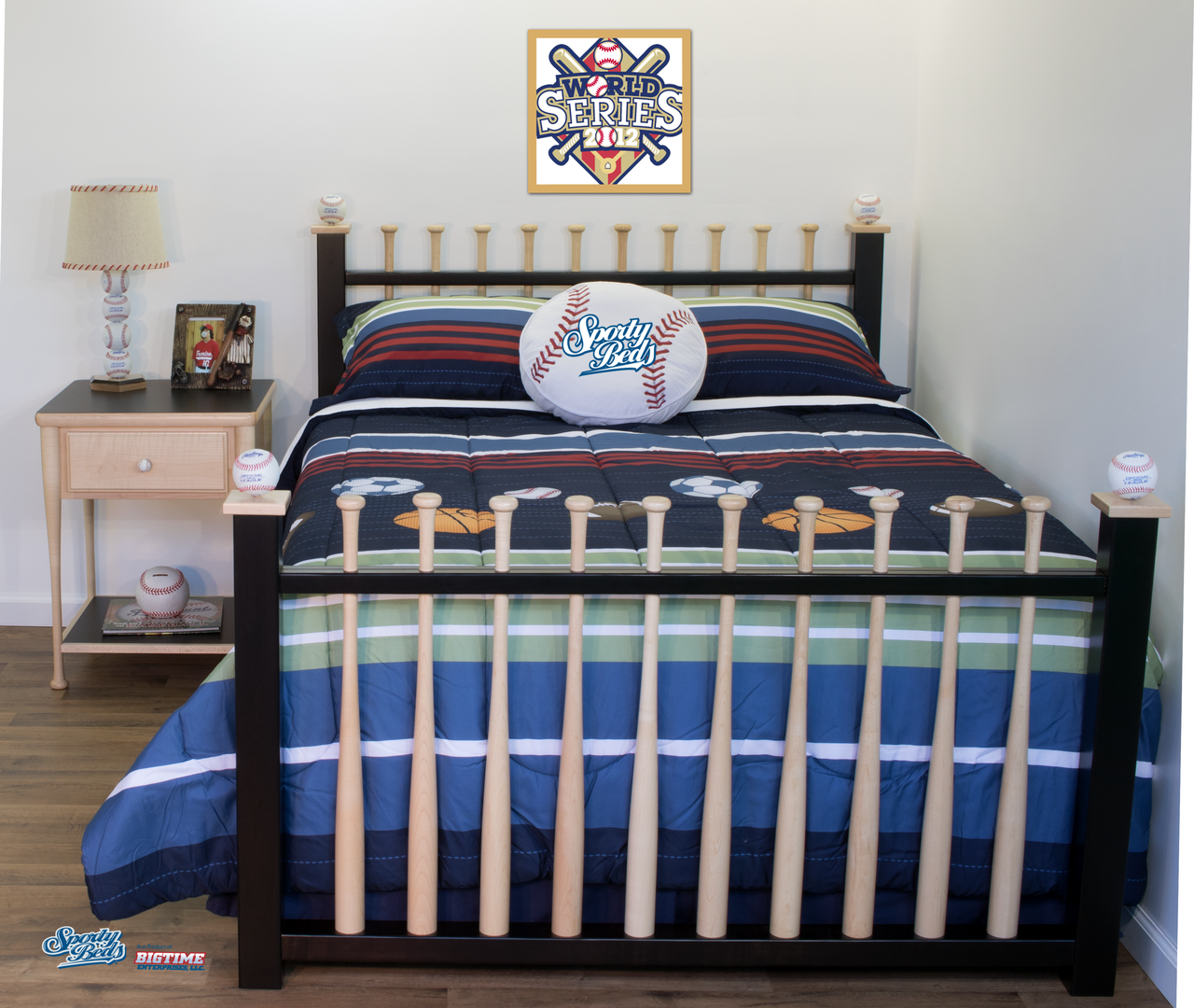 Baseball Bed - Grand Slam Full - 3 Pc Headboard, Foot-board ...
