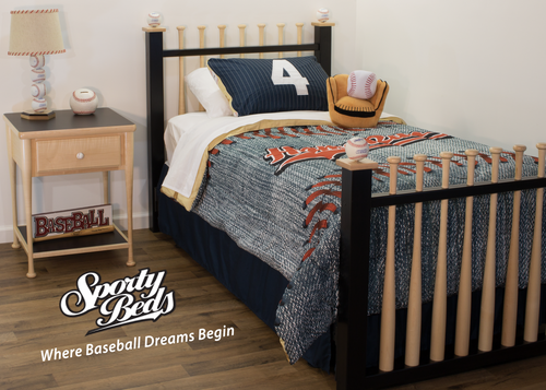 Grand Slam Twin Headboard and Foot-board Set - Finished / Sporty Beds