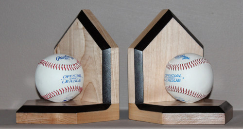 Grand Slam Bookends made with maple wood and real baseballs / Sporty Beds.