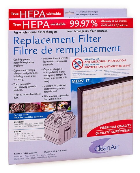 filtre Venmar HEPA pour ƒchangeur d'air