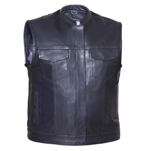 Club Vest Full Grain Naked Leather