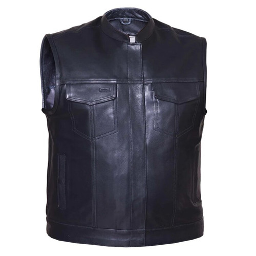 Club Vest Milled Leather