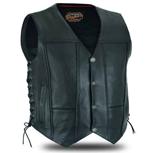 Traditional Motorcycle Vest Calf