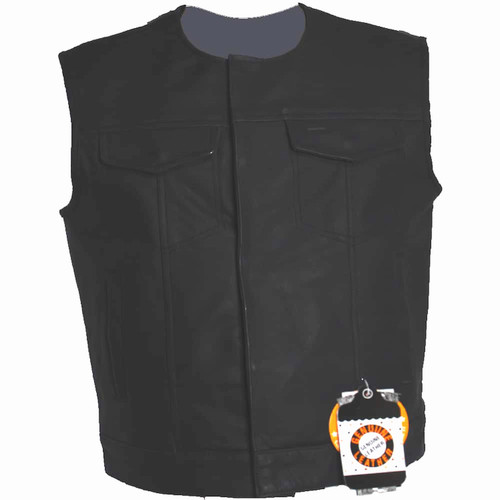 Collarless Club Vest Matte Finish