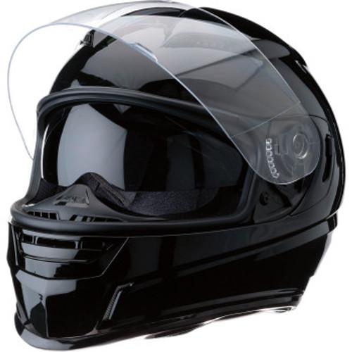 Jackal Solid Helmet Black