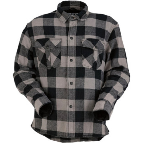 Duke Flannel Shirt Gray/Blk