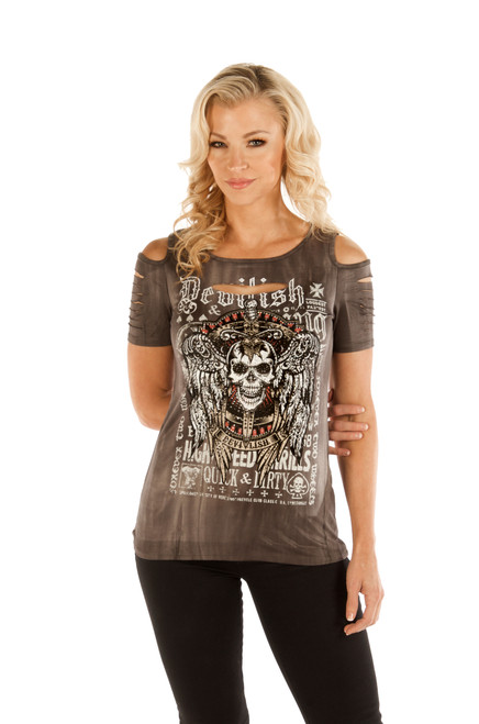 Devilish Skull Cold Shoulder