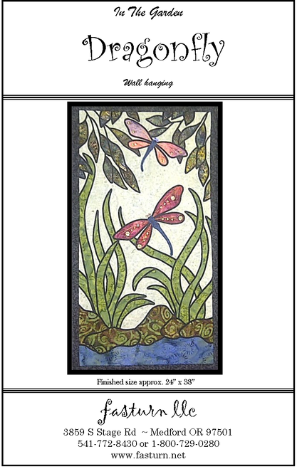 This fast & easy stained glass pattern uses fusible appliqué & fabric tubes for the leading lines. Bling packet includes assorted sequins & beads for the wing accents and the eyes.