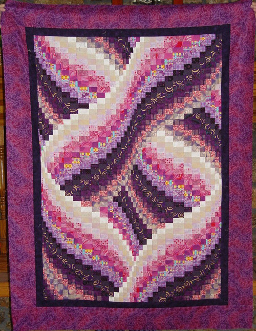 TWISTED BARGELLO PATTERN Fasturn Cool Twisted Bargello Quilt Pattern Free