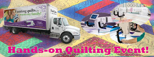 (5)Handi Quilter Truck Event ~ Hands-On Longarm Quilting - 2 Full Days of Free Motion & Rulers ~ Wed & Thurs, Apr. 1 & 2