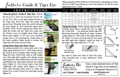 GUIDE & TIGER EYE INSTRUCTIONS