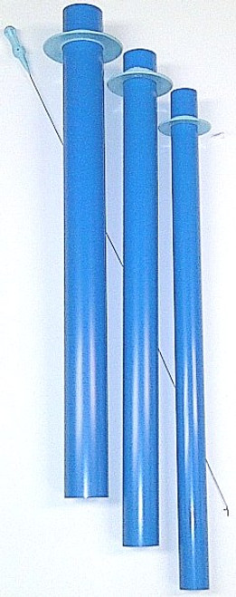 "The 18"" Blue Tubes are for turning longer, wider fabric tubes. Great for making tube quilts, stuffed animals or turning doll legs and arms. The BT-18 tubes are 18"" long and come in a set of 3 with 1 pull wire. These tubes are 1"", 1 1/4"" & 1 1/2"" in diameter."