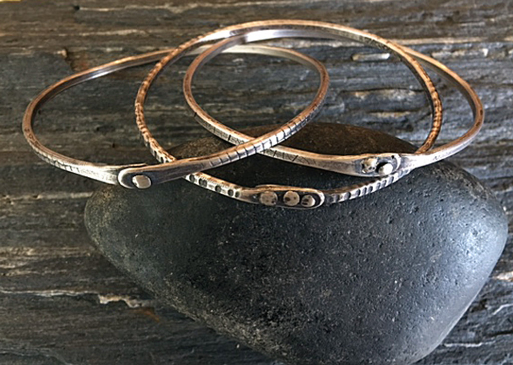 Riveted Bangle set