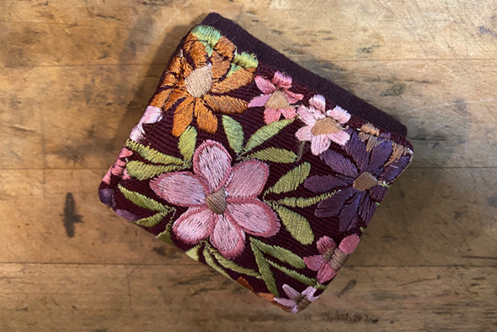 Embroidered Travel Jewelry Case