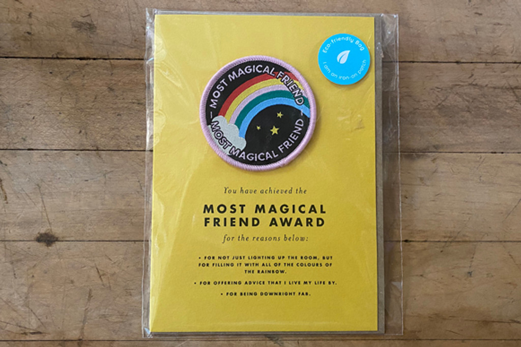 Most Magical Friend Greeting Card and Patch