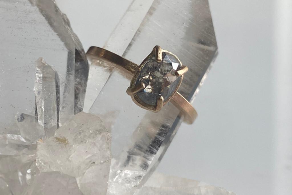 Diamond Ellipse Engagement Ring