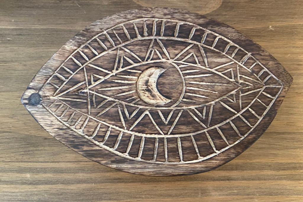 Evil Eye Wooden Trinket Box