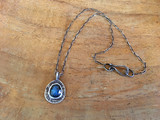 Small Oval Halo Necklace