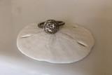Nested White Topaz  White Gold Engagement Ring