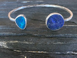 Double stone open bangle