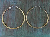 Brass is Badass Big Hammered Hoops