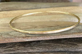 Brynna Gold Hammered Bangle