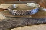 Mens Hammered Sterling silver Cuff Bracelet