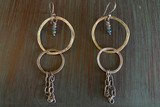 Blue Diamond Chain Hoops