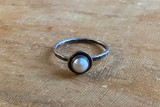 Pearl Moat Stacking Ring