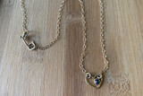 Love Jones Little Heart Necklace with Rose Cut Diamond
