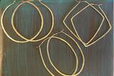 Featherweight Brass Hoops
