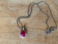 Rose Cut Ruby Necklace