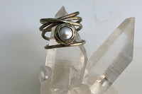 Nested Pearl Wrap Ring