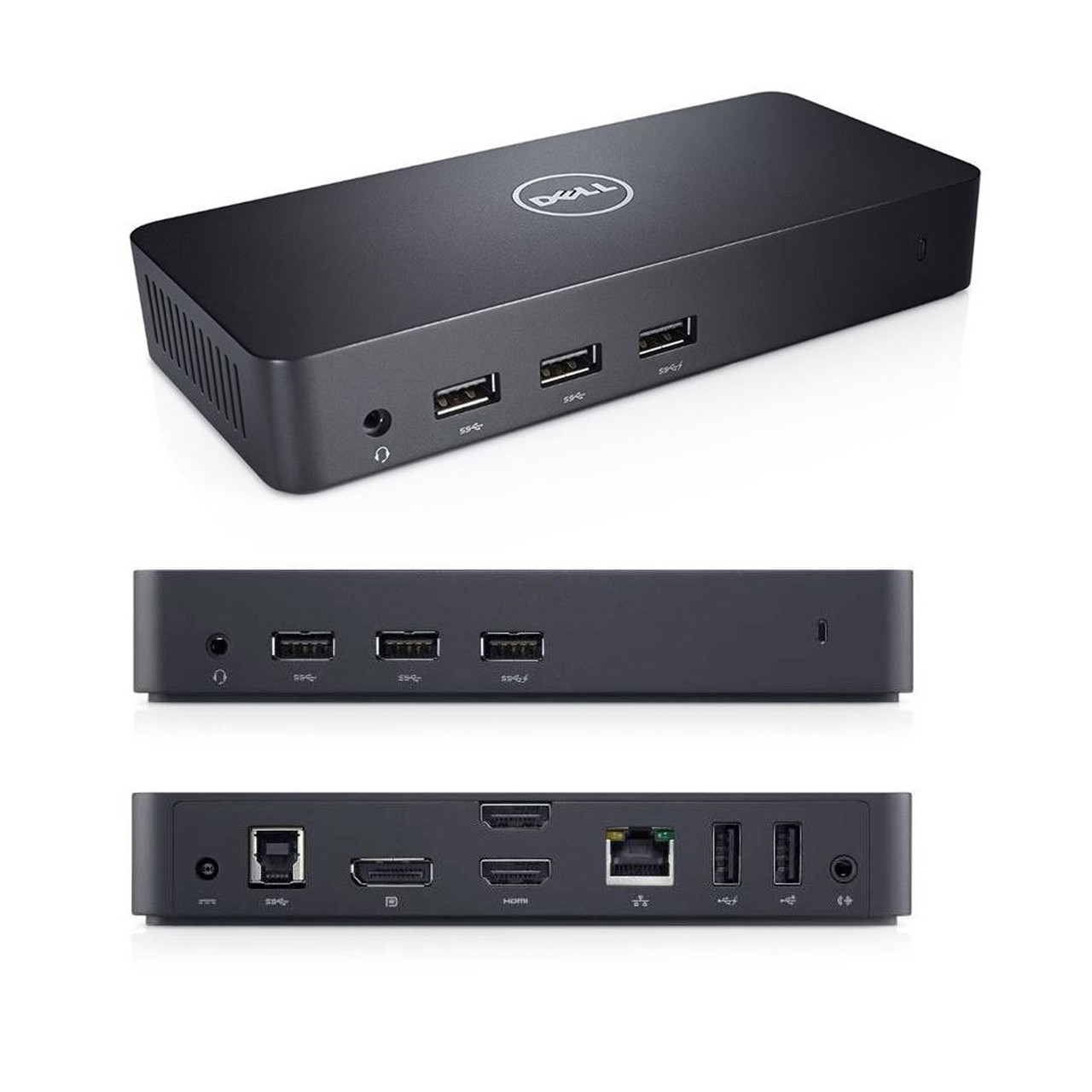 Dell D3100 USB 3 0 UHD 4K Triple Video Docking Station