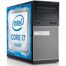 Dell Optiplex 790 Quad Core i7 Tower Windows 7 Pro Computer thumb