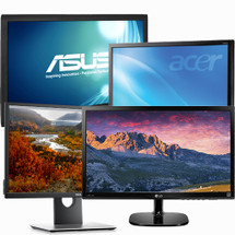 "Cheap Miscellaneous Refurbished 24"" LCD LED Monitors."