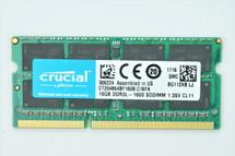 Crucial 16GB DDR3L-1600 SODIMM 204-Pin Laptop Memory